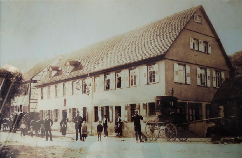 Historische Aufnahme Hotel Hirsch Enzklösterle